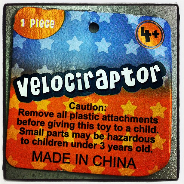 Chinese Velociraptor May Be Hazardous