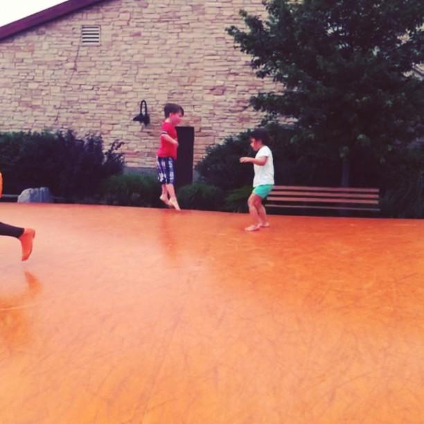 Jumping at Fair Oaks Farms