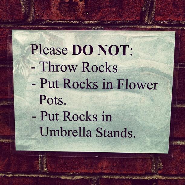 Please DO NOT: