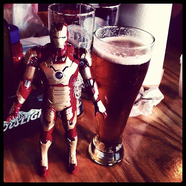 Great food, Beer & Iron Man @teddysbrgrjoint