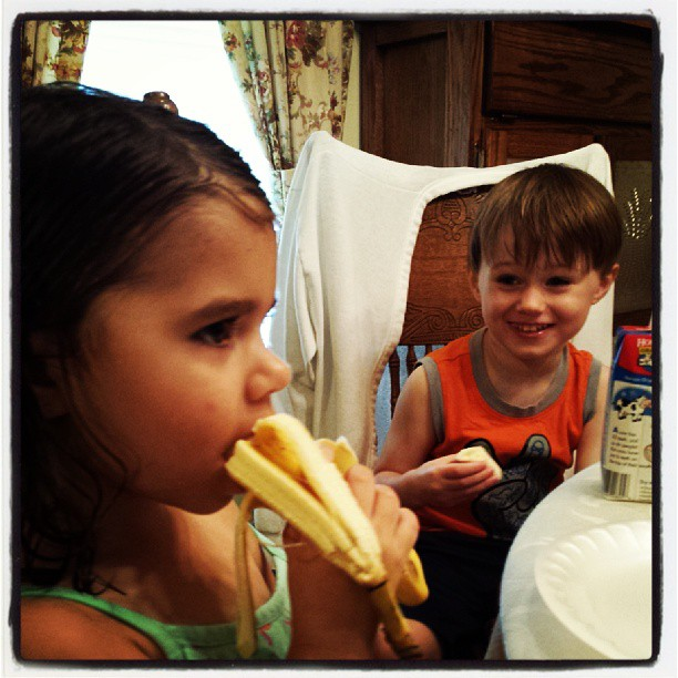 These kids are bananas