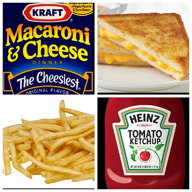 The Four Basic Food Groups (according to Max)