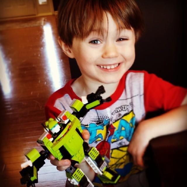 Proud Lego Builder