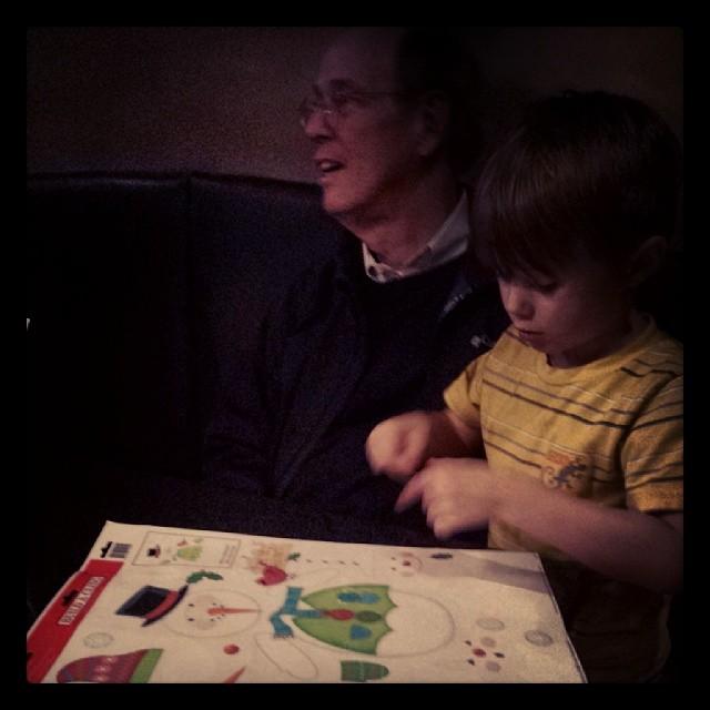 Max + Grandpa @ dinner