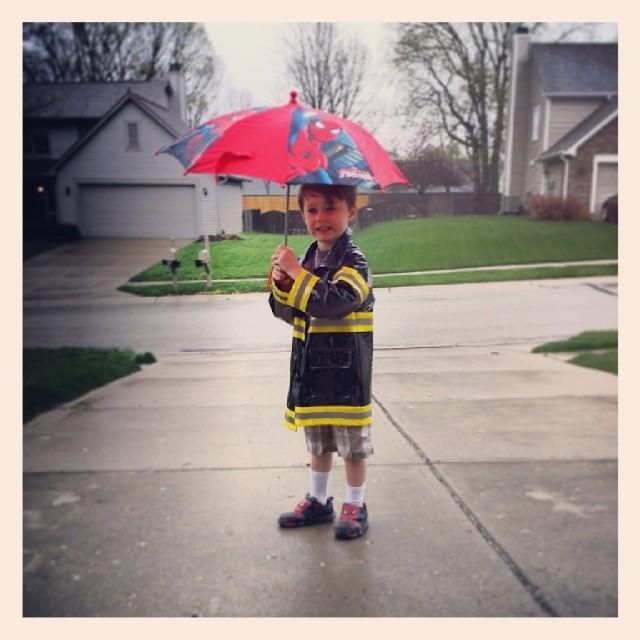 Rain, rain.