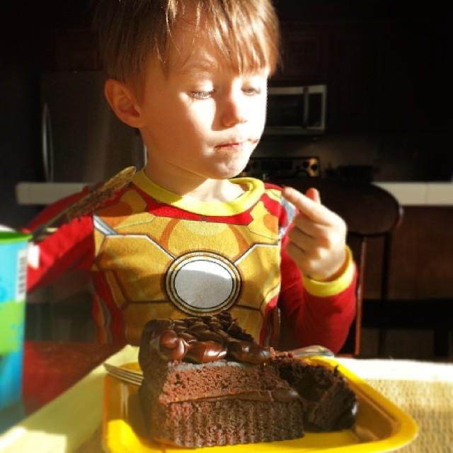 Iron Man likes chocolate cake.