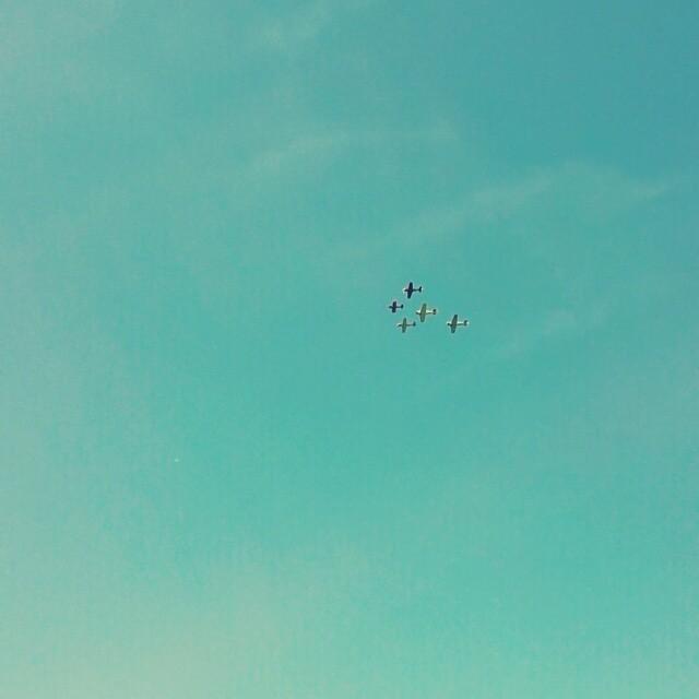 Back yard airshow