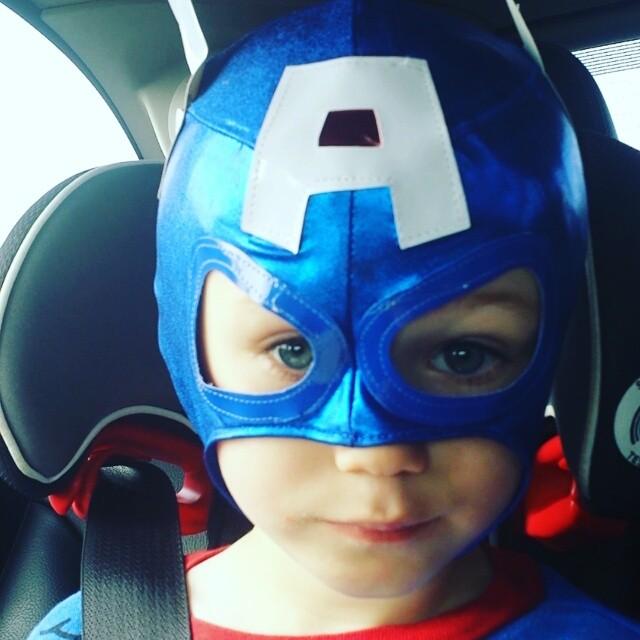 Captain America Eats a Pop Tart