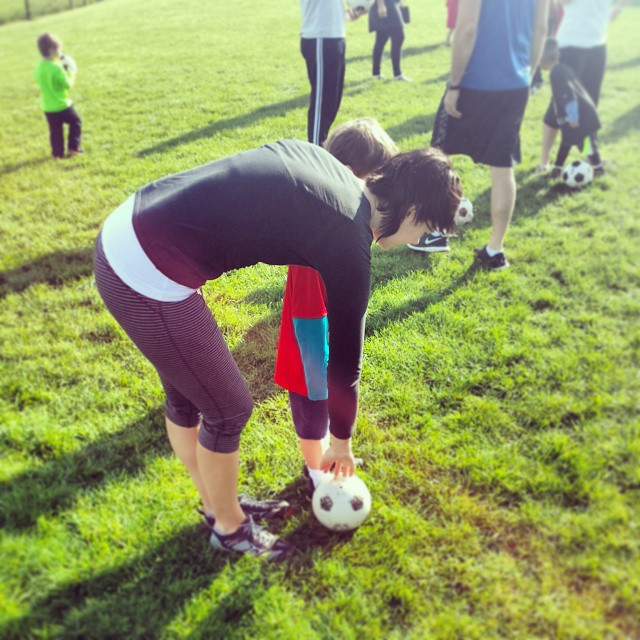 Saturday am soccer with mom & max