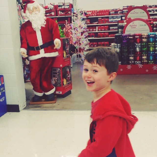 Creepy Santa spooks Max
