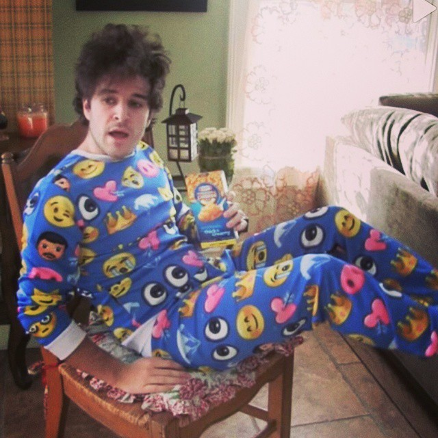 Maxwell loves his jammies and he's big for his age. Here's a glimpse into the future of Max when he's sixteen: