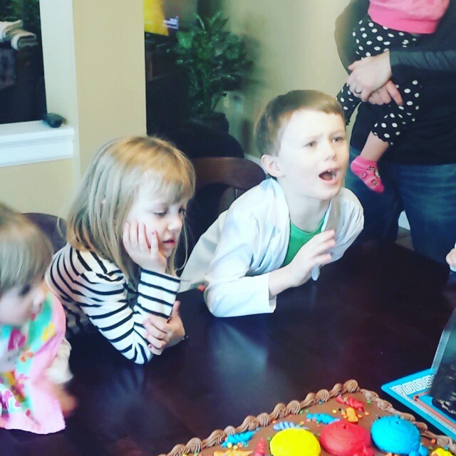 Excited for cake