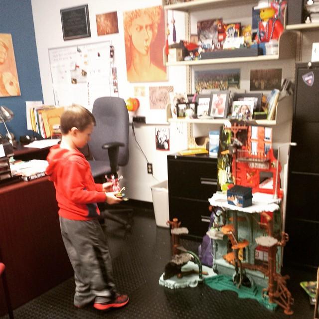Lots o' fun in mom's office...