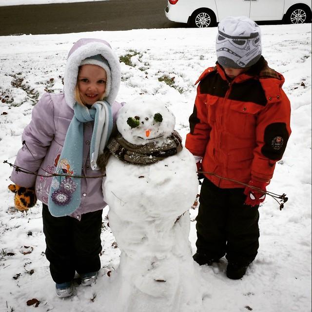 Caroline, Snowman & Max