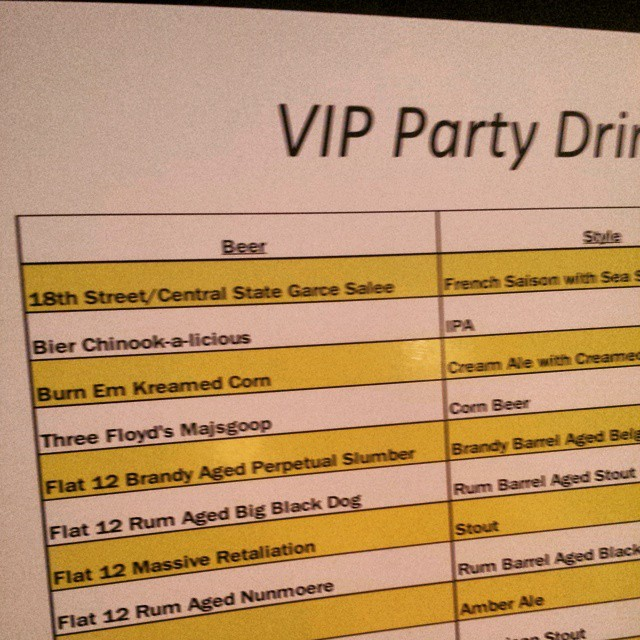 First on the list tonight at VIP Boombozz. Props to @chris_bly