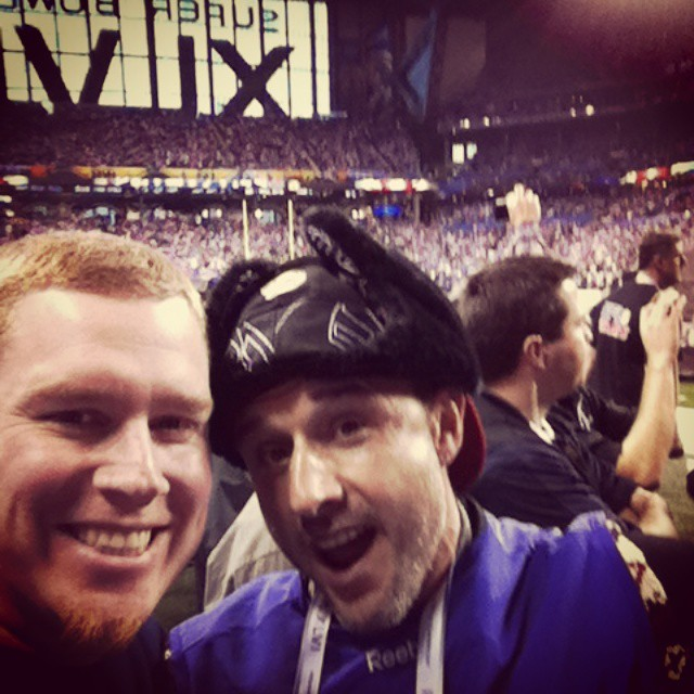 Partying with Dave at Super Bowl past #tbt