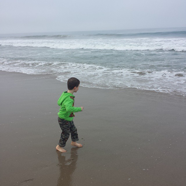 Chased by waves