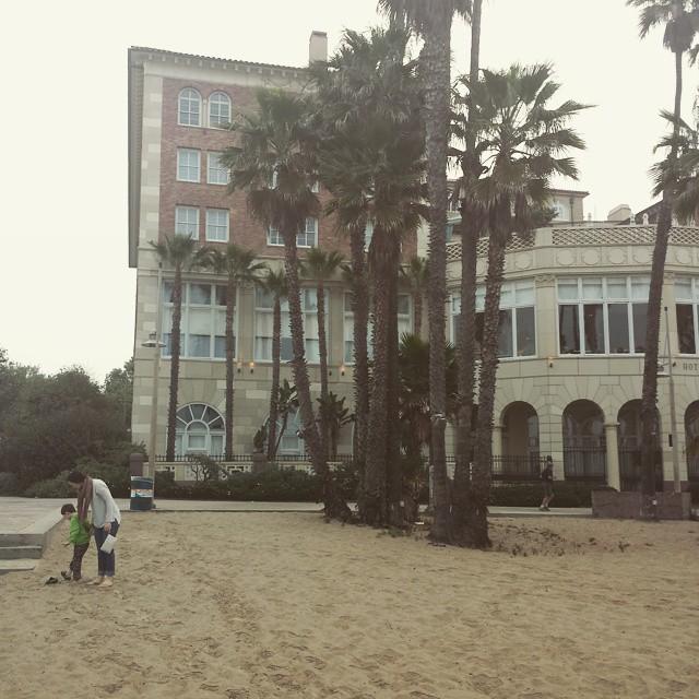 Ready to walk on the beach
