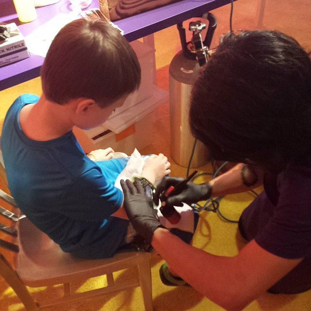 Getting some ink for the show.