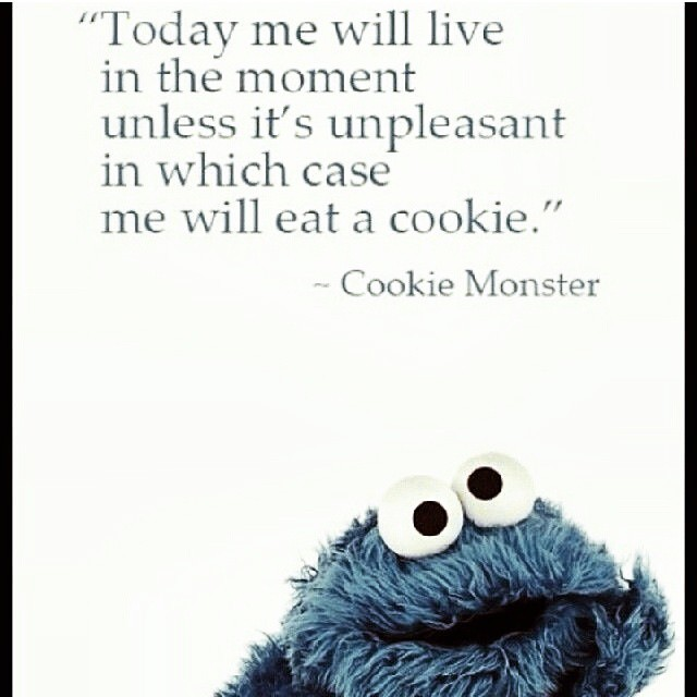 Anyone else notice that Cookie Monster is a terrible role model for children learning to speak?