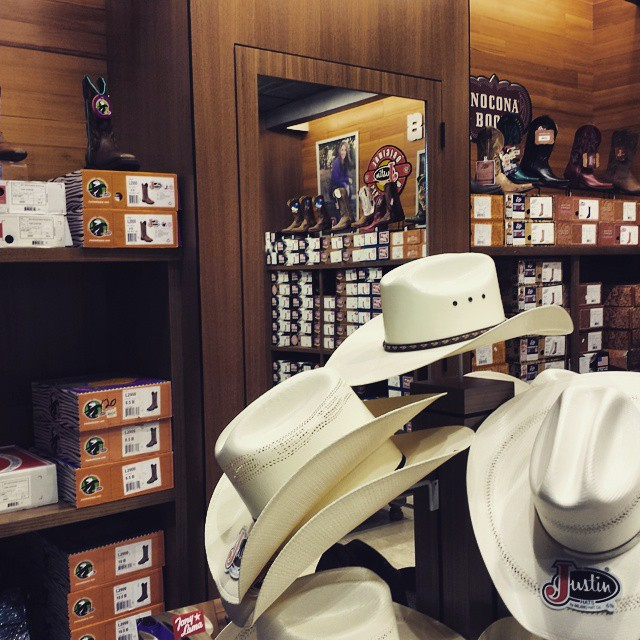 Hmmm. Texas souvenir: Boots or hat? Boots or hat? Decisions, decisions.