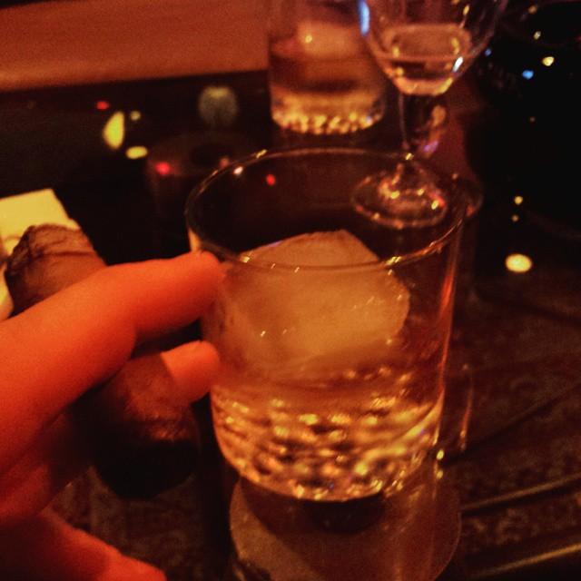 Bourbon and cigar compliments of #nestormiranda #onelife