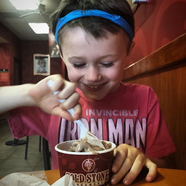 Happy about ice cream