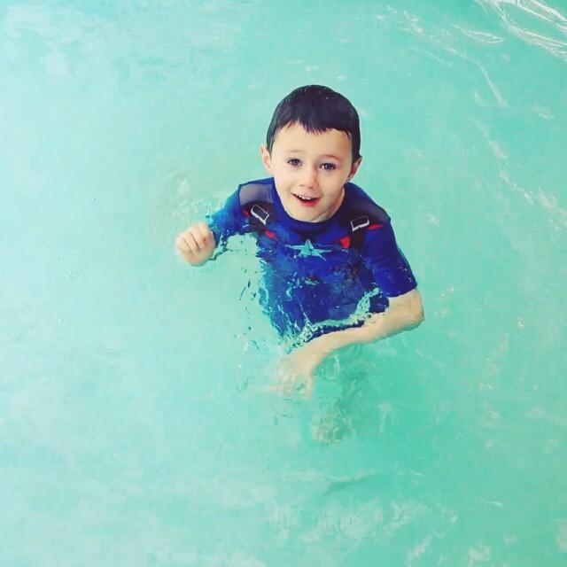 Cap'n 'Merica goes for a swim