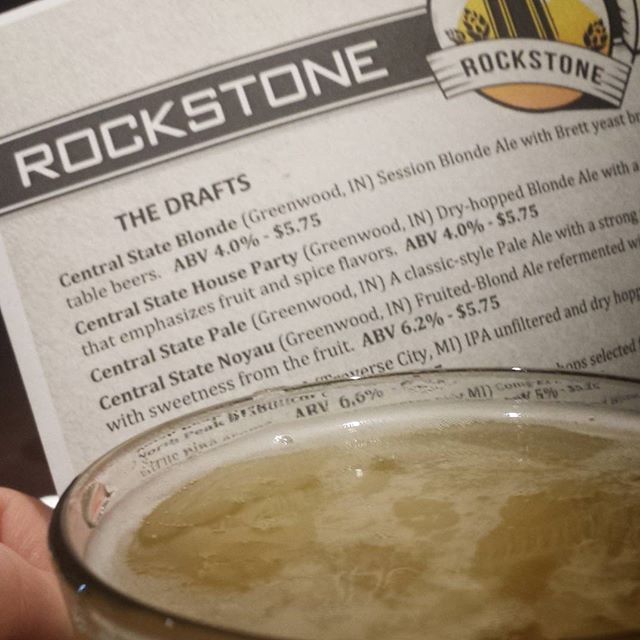 Enjoying @centralstatebrewing  tonight at the tap takeover Rockstone, Fishers. Props to @chris_bly & team CSB.