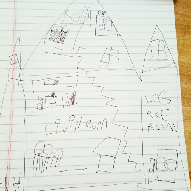 A few of Max's drawings from this weekend.