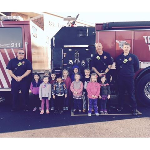 Some real firefighters came to visit SLDM today.