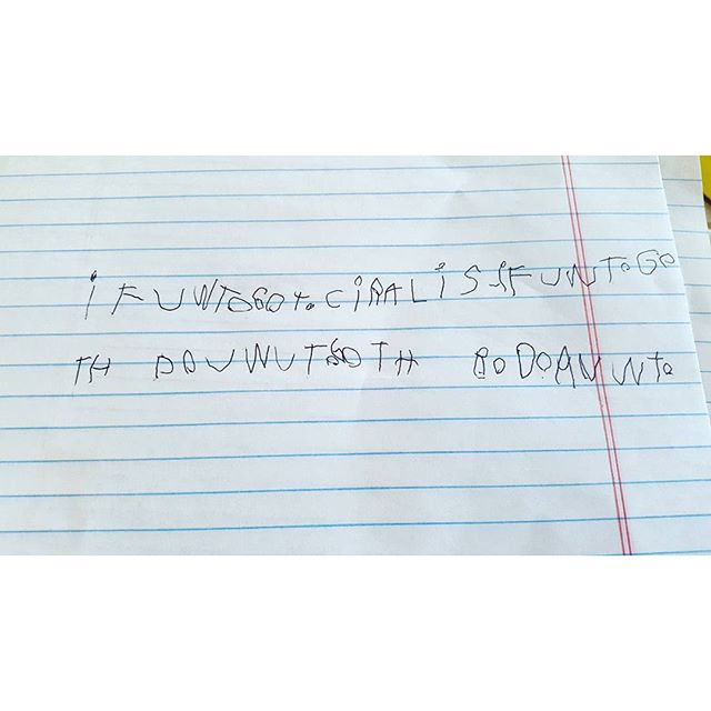 Max disappeared down to the basement and came back with this. TRANSLATION: If you want to go to Caroline's, if you want to go there. Do you want to go there or do you not want to?
