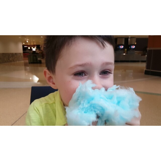 One way to eat cotton candy...