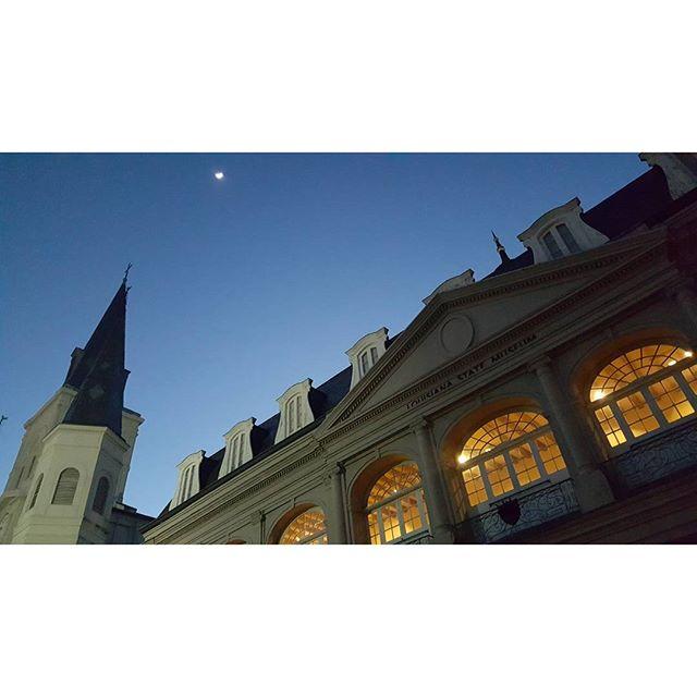 Moon, over Bourbon Street
