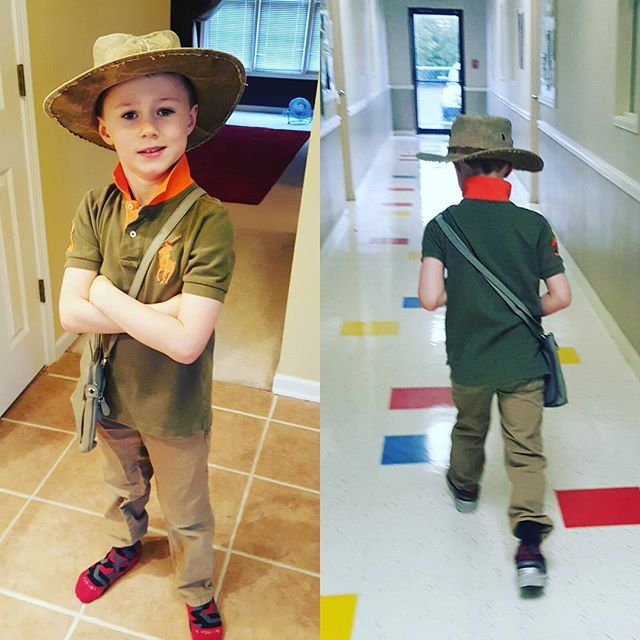 """""""Indiana"""" Max heads off to daycare today."""