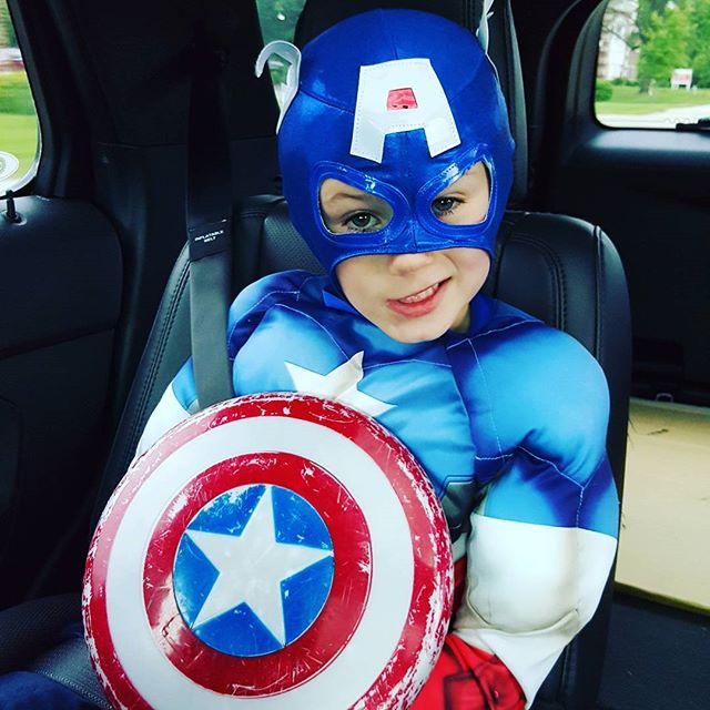 It's superhero day at Kindercare today, but we know that EVERY day is superhero day for Max