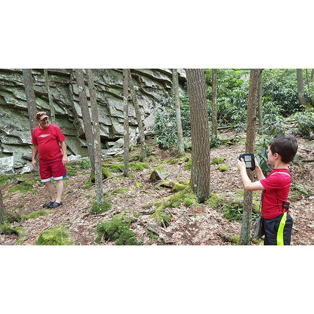Max takes a photo of Uncle Tommy during our hike in the mountains of Virginia.
