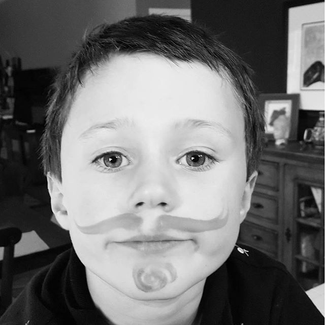 Face paint today. Max was Will Turner.