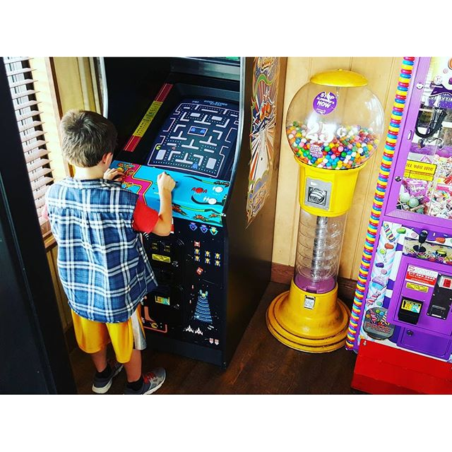 Pac-Man in the arcade.