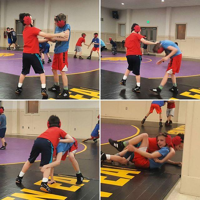 Max is improving his wresting skills.