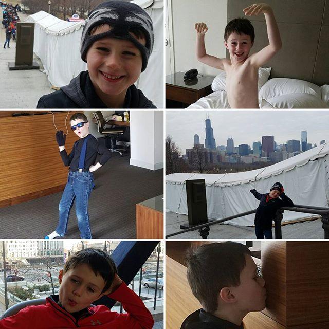 Max had a fun trip to Chicago.