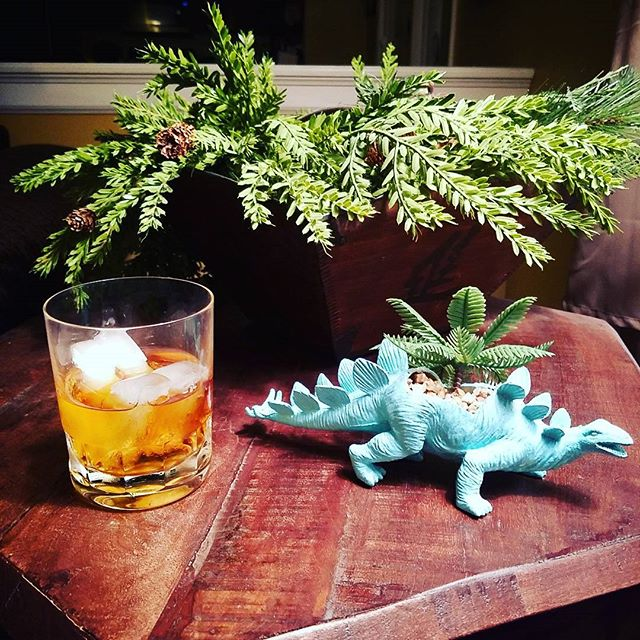 So happy to have this guy to remind us of good friends far away... (dinosaur not the drink)