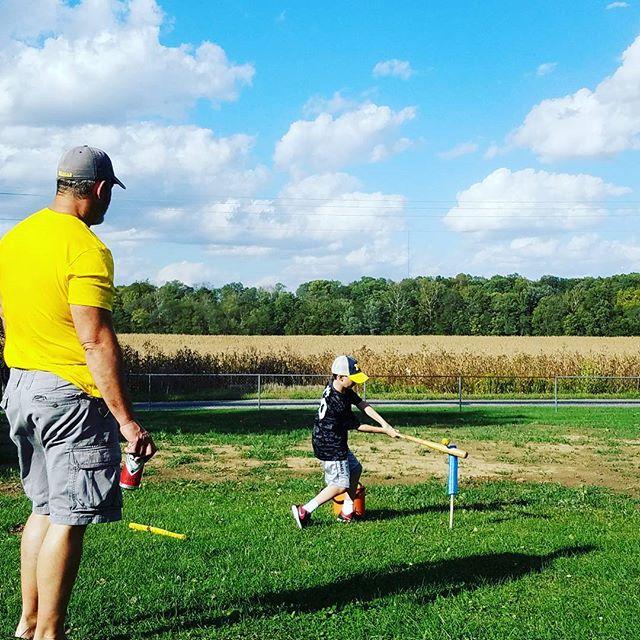 Country baseball with Grandpa