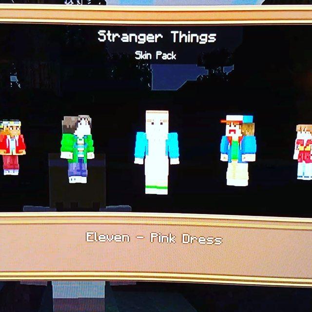Loving the new Stranger Things Skin Pack for Minecraft #upsidedown