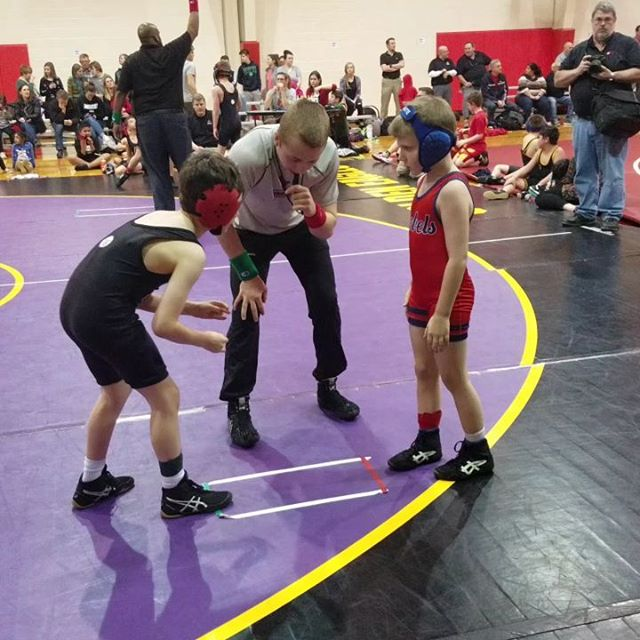 "Max went 3-0 tonight at the last home meet of the year vs St Jude and St Mark. 4 pins highlighted here (In 1st period match keeps going until 2nd pin) And yes, that's me yelling ""Drive!"" and ""Get on your toes!' Probably doesn't help.. Go SLDM Cardinals!"