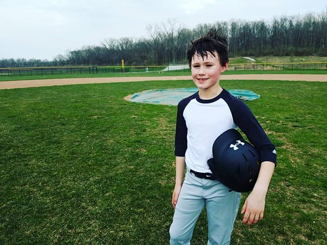 This kid had one day off from baseball practice... and was determined to find a field to practice. #forloveofthegame