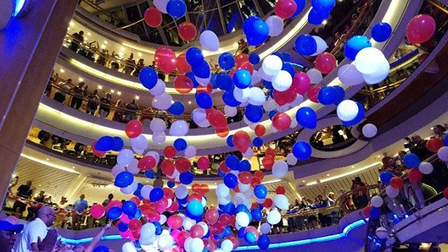 4th of July celebration at sea. Enchantment of the Seas RCCL 7.4.18