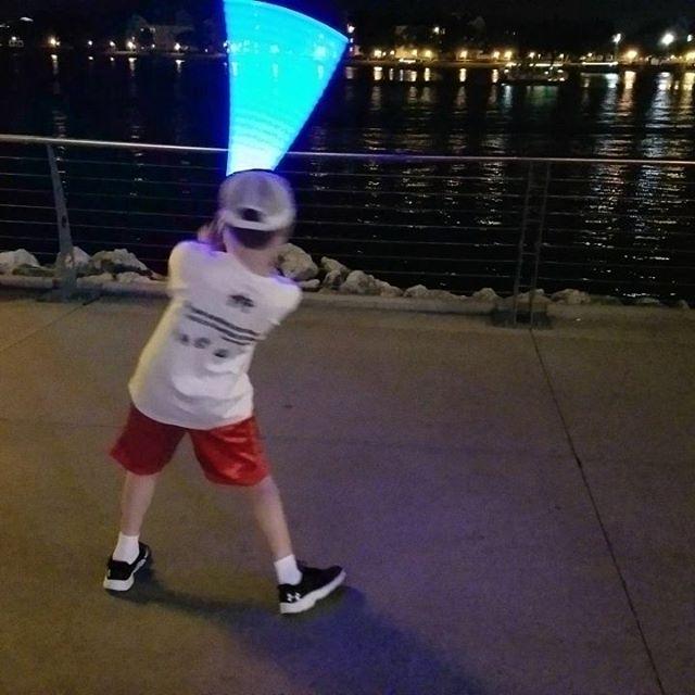 Light Saber practice at Disney Springs
