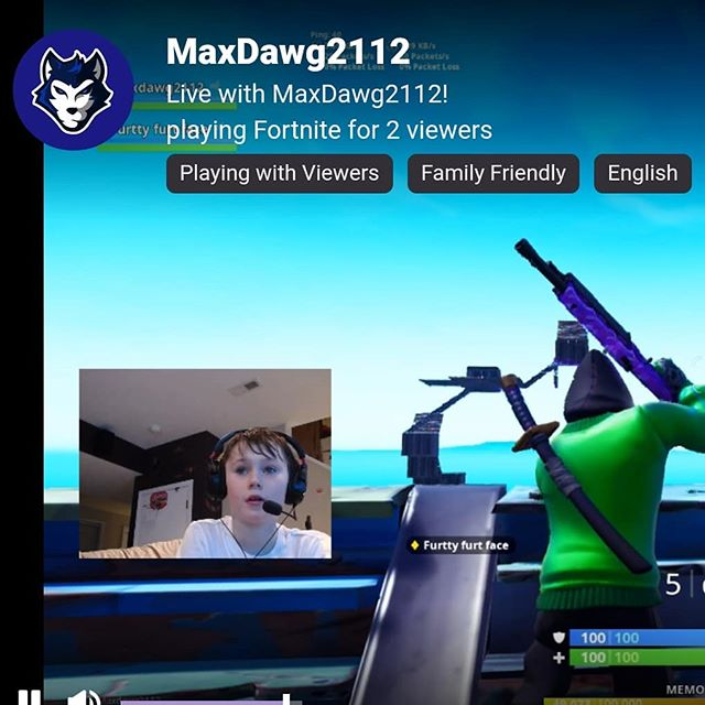 This kid loves to stream...