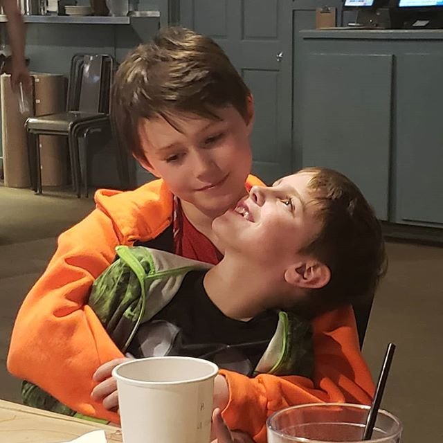 Max had a great day with one of his best buddies, Lincoln. The two boys grew up together as toddlers and always pick up as best of pals even after months of not seeing one another.